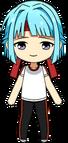 Hajime Shino PE Uniform (Red Team) chibi