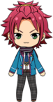 Mao Isara Winter Uniform + Muffler chibi