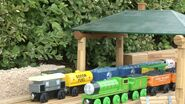 Henry and Stanley in the lumberyard