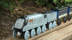 Spencer and his silver steam
