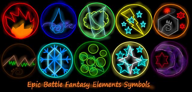 File:Epic Battle Fantasy Elements Symbols from Kupo707.png