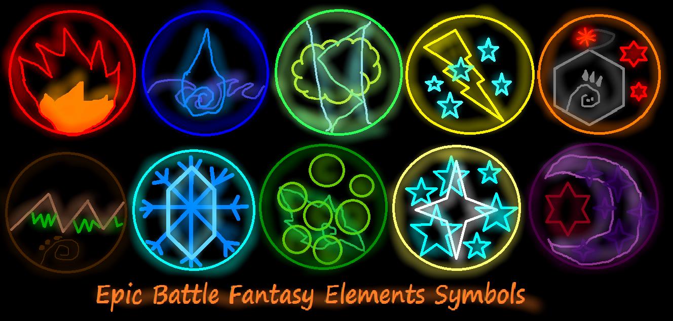 Image - Epic Battle Fantasy Elements Symbols from Kupo707 ...