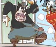 Big Bad Pete and Animatronic Donald yelling