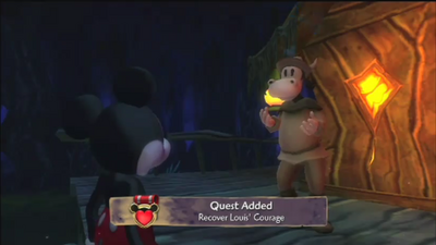 Recover Louis's courage Quest 1