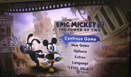 Epic mickey 2 the power of 2 title screen