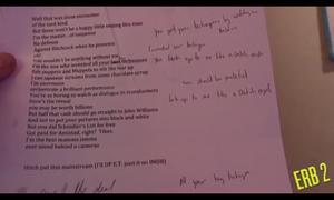 Hitchcock's scrapped lyrics