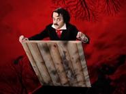 Edgar Allan Poe Releasing Bats From The Floorboards