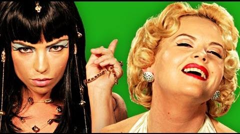 Epic Rap Battles Of History - Behind the Scenes Cleopatra vs Marilyn Monroe