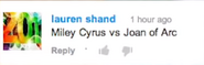 Miley Cyrus vs Joan of Arc Suggestion