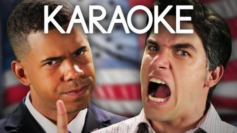KARAOKE ♫ Barack Obama vs Mitt Romney. Epic Rap Battles of History