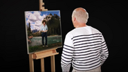 Bob Ross Inside His Painting