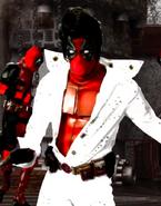 Deadpool Dressed As Elvis Presley