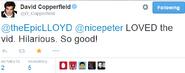 David Copperfield's Tweet 2