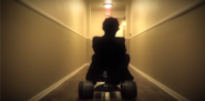 Stanley Kubrick on a Tricycle