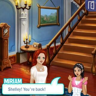 Miriam's reaction after seeing Shelley