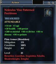 Nektulos Vine Patterned Pauldrons
