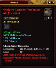 Outlaw's Lambent Vambraces of Quickness