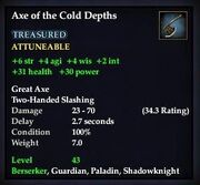 Axe of the Cold Depths
