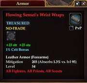 Flowing Sensei's Wrist Wraps