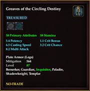 Greaves of the Circling Destiny