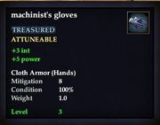 Machinist's gloves