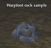 Warpfont rock sample