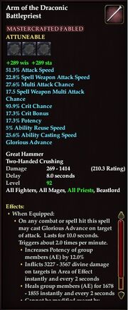 Arm of the draconic battlepriest