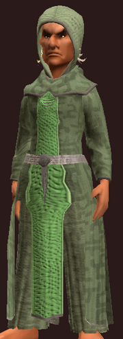 Imbued Tranquil Burlap Robe (Equipped)