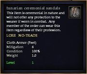 Tunarian ceremonial sandals