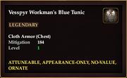 Vesspyr Workmans Blue Tunic