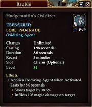 Hodgemottin's Oxidizer