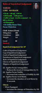 Robe of Sepulchral Judgement