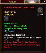 Fiendish Oracle's Chain Cuffs