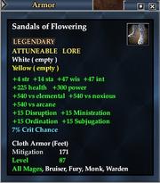 Sandals of Flowering