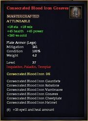 Consecrated Blood Iron Greaves