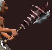 Imbued Iron Spiked Hammer (Equipped)