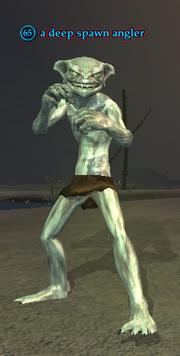 A deep spawn angler