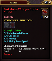 Darkblade's Wristguard of the Citadel