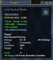 Acid Marked Blade