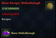 Rune Recipe- Strikethrough