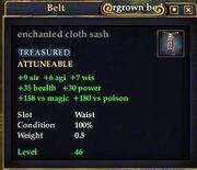 Enchanted cloth sash