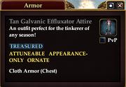 Tan Galvanic Effluxator Attire