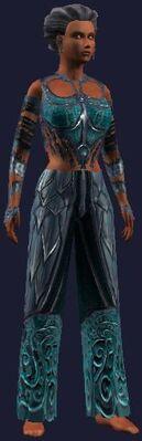 Teal dragon gi (Visible, Female)