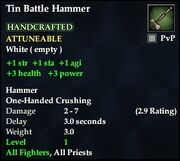 Tin Battle Hammer