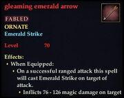 Gleaming emerald arrow