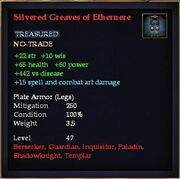 Silvered Greaves of Ethernere