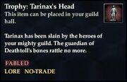 Trophy Tarinax's Head