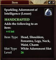 Sparkling Adornment of Intelligence (Lesser)
