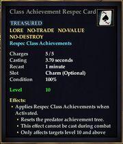 Class Achievement Respec Card