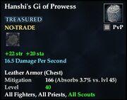 Hanshi's Gi of Prowess